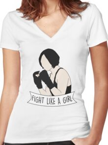 Fight Like Sun Bak Women's Fitted V-Neck T-Shirt