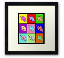 Pop Art Unicorn Framed Print