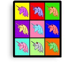 Pop Art Unicorn Canvas Print