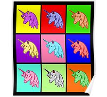 Pop Art Unicorn Poster