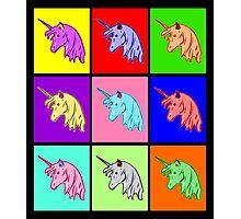 Pop Art Unicorn Photographic Print