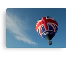 Team GB in the sky! Canvas Print