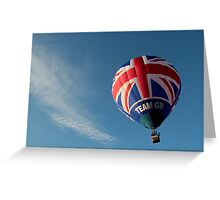 Team GB in the sky! Greeting Card