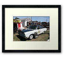 1966 plymouth sherrifs patrol car Framed Print