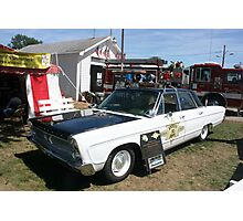 1966 plymouth sherrifs patrol car Photographic Print