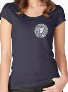 Yarn Ball Sheep Women's Fitted Scoop T-Shirt