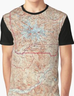 USGS Topo Map Washington State WA Mt Rainier 242674 1928 125000 Graphic T-Shirt