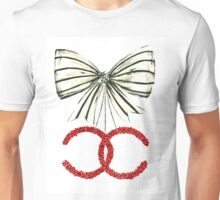 Red Christmas Bow - Watercolor Fashion Illustration  Unisex T-Shirt