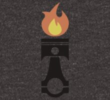 Flaming Piston (fire black) by BGWdesigns