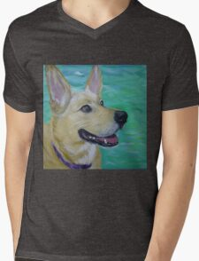 Lilly by a River Mens V-Neck T-Shirt
