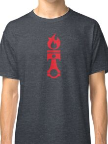 Flaming Piston (red) Classic T-Shirt
