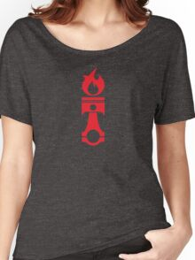 Flaming Piston (red) Women's Relaxed Fit T-Shirt