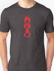 Flaming Piston (red) T-Shirt