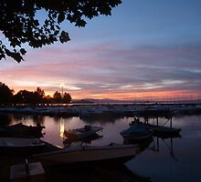 Sunset over Marta Harbour by LindyLouMac