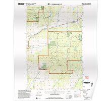 USGS Topo Map Washington State WA Mount Annie 242471 2001 24000 Poster