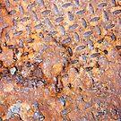 Rusted Metal Floor Plate - iPhone Case by Christopher Herrfurth