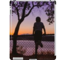 Boy Viewing Sunset On The Puget Sound iPad Case/Skin