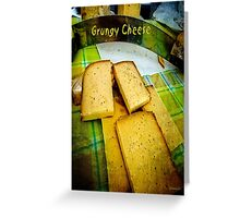 Grungy Cheese Greeting Card