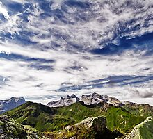 clouds over the summit by Klaus Brandstaetter