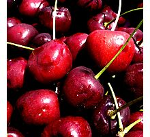 Cherries (available in ipad) Photographic Print