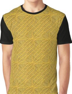 Yellow Lines Knit Graphic T-Shirt