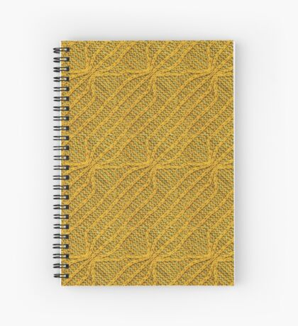 Yellow Lines Knit Spiral Notebook
