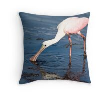Spoonbill Sipping Throw Pillow