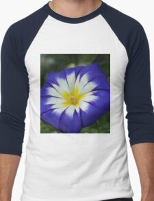 Flower Blue Men's Baseball ¾ T-Shirt