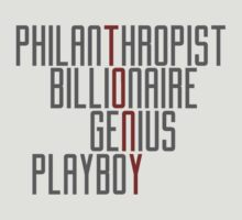 Genius Billionaire Playboy Philanthropist [Dark/Red] by EdwardDunning