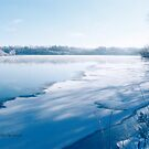 Holiday Photography First Ice and Snow on Gatineau River by Yannik Hay