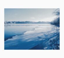 Holiday Photography First Ice and Snow on Gatineau River One Piece - Short Sleeve