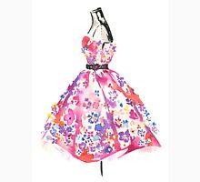 Floral Dress - Watercolor Fashion Illustration  Unisex T-Shirt