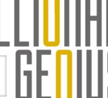 Genius Billionaire Playboy Philanthropist [Dark/Yellow] Sticker