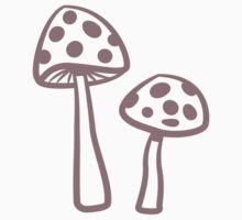 Purple Haze Dotted Toadstool by HootOwlPress