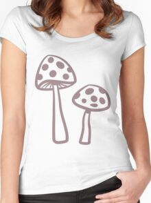 Purple Haze Dotted Toadstool Women's Fitted Scoop T-Shirt