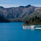 Inter-Island Ferry in Marlborough Sounds by Yukondick