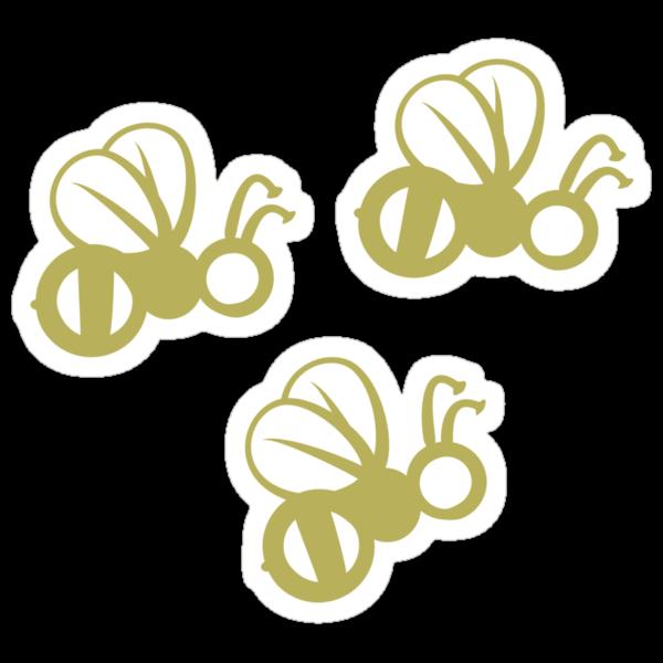 Tres Amigos Bees by HootOwlPress