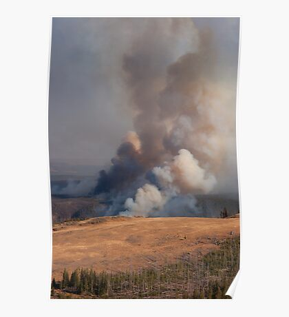 Fire in Yellowstone Poster