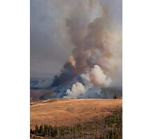 Fire in Yellowstone Photographic Print