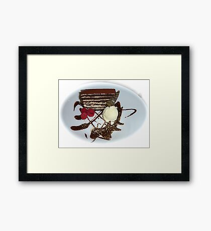 Just Dessert  Framed Print