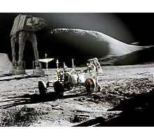 Apollo on Moon with a special guest Photographic Print