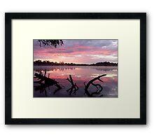 Rock Lake Framed Print