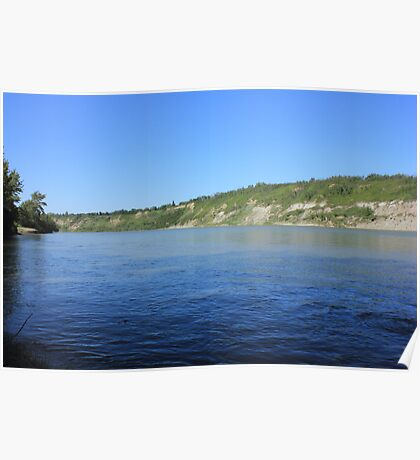 Beautiful blue water - North Saskatchewan River Poster