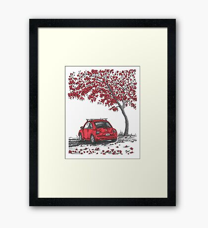 LOVE BUG     red Framed Print