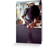 Designer Portrait Greeting Card