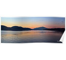 Sunset on Loch Long Poster