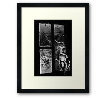 The Crossword Puzzle. Framed Print