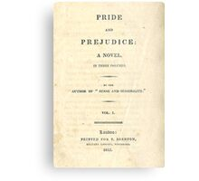 PRIDE and PREJUDICE Novel Cover Metal Print