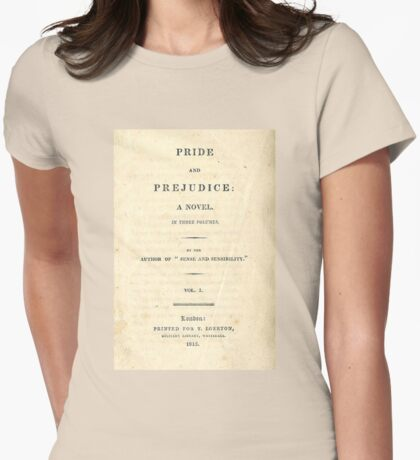 PRIDE and PREJUDICE Novel Cover Womens Fitted T-Shirt