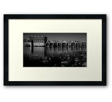 River Dam Framed Print